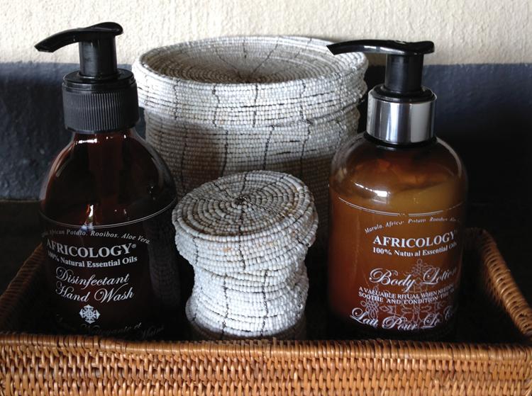 Nambiti Plains Lodge Best smelling products!