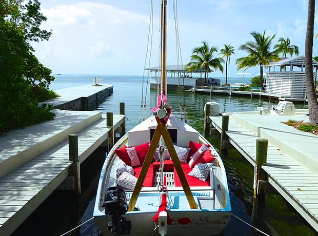 Casa Morada Sol Sister – the Casa's adorable vessel is available for a sail on Islamorada Bay with local historian Captain Bill.